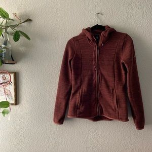 Kuhl Maroon Warm Hooded Zip Sweatshirt Size XS